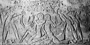 Bedoiun Slaves Being Beaten - Battle Of Kadesh