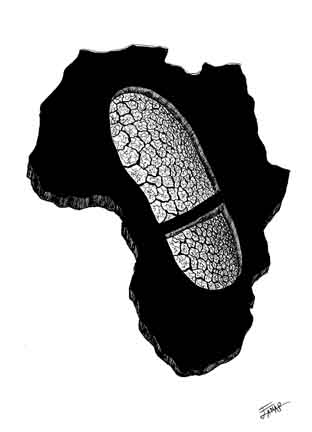 Colonialism in Africa. (Artist credit not available at source. mrcoyle.edublogs.org). Click for image.