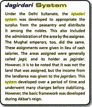 Iqtadari and Jagirdari System (from Our Story So Far 7 By Vipul Singh, Gita Shanmugavel, Jasmine Dhillon; page 44).