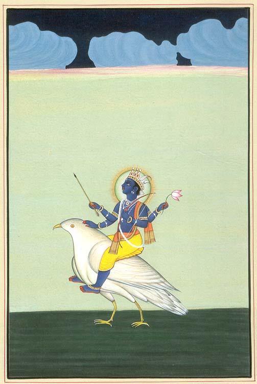 Shani-deva - Image source - anand-gupte.tripod.com. Click for image.