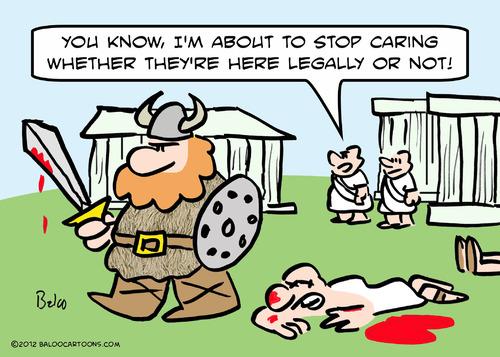 Jews were refugees a few decades ago. They seem to forget that.  |  Cartoon by Baloo; source & courtesy - balooscartoonblog.blogspot.com  |  Click for image.