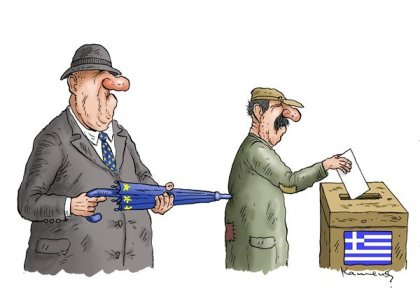 Free and fair elections? Secret ballot? | Cartoonist - Marian Kamensky from Slovakia; source & courtesy - cartoonblog.msnbc.msn.com | Click for image.