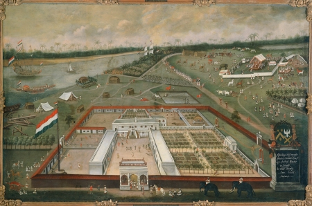 The Dutch Factory at Hougly, 1665 (Hendrick van Schuylenburgh).   Image source & courtesy - rijksmuseum.nl  |  Click for larger image.