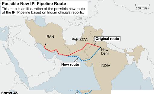 Iran – Map of Iran and India
