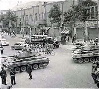 Street scenes from August 1953 coup in Iran.