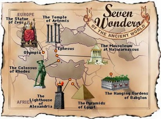 The Seven Wonders Of The Ancient World were all monuments concentrated in the Desert Bloc geography.